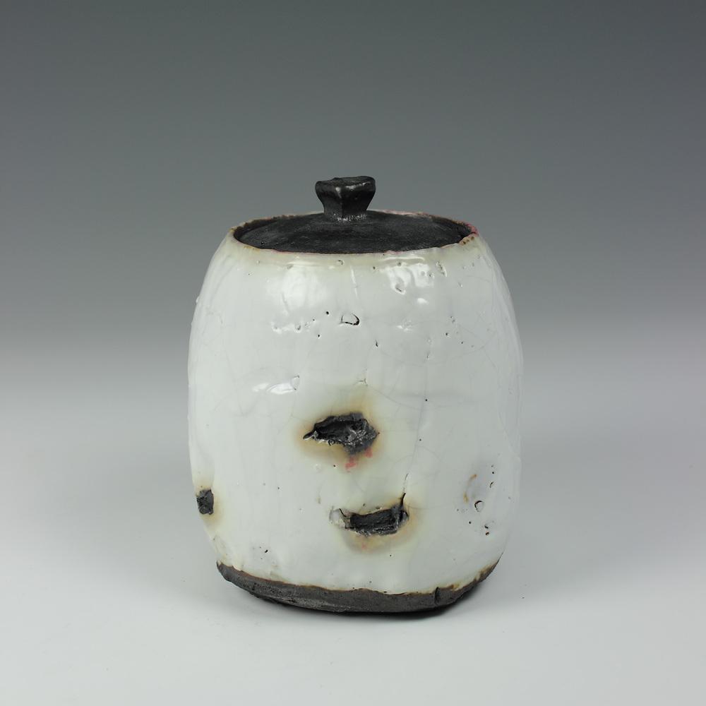 Lidded Jar Shino