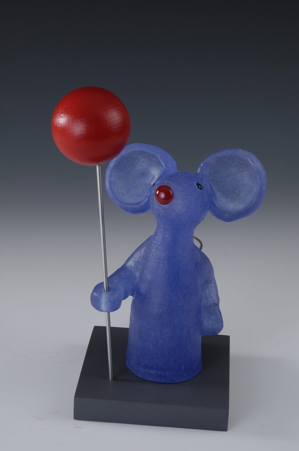 Blue Mouse with Red Balloon