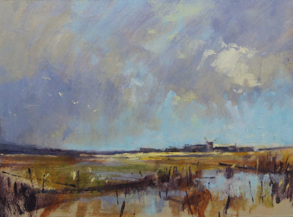 Passing clouds, Cley