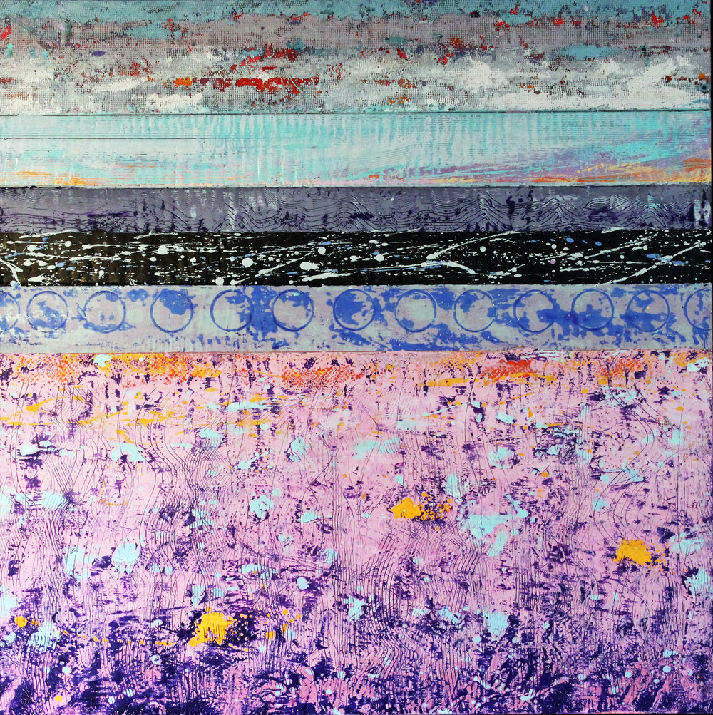 David Hayward : Sea Wall Pink Field