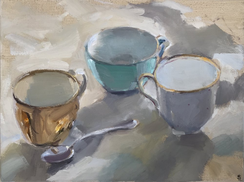 Alice Sheppard Fidler : Cups and Spoon