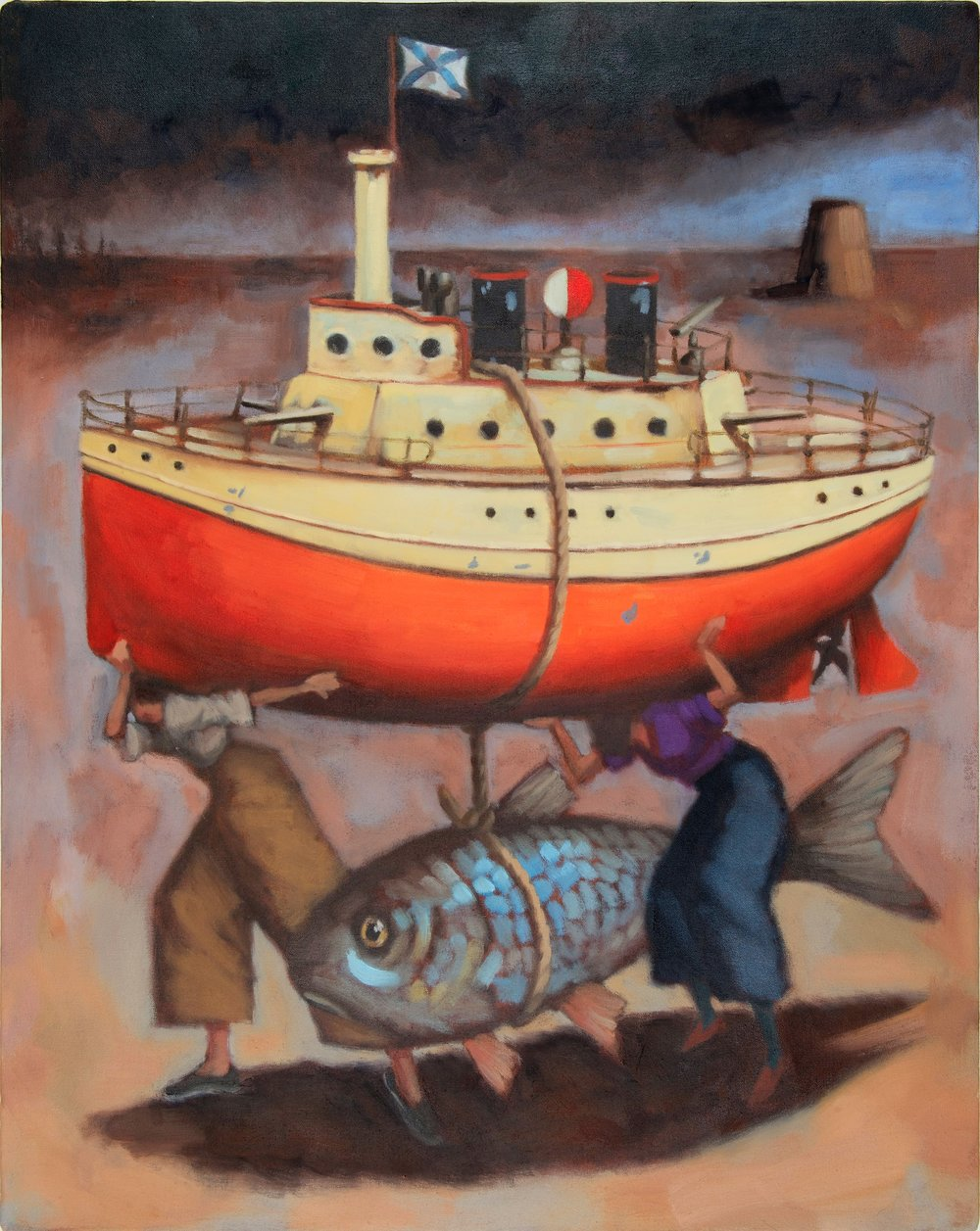 Steve Fricker : Aqua, 80 cm x 65 cm, oil on canvas