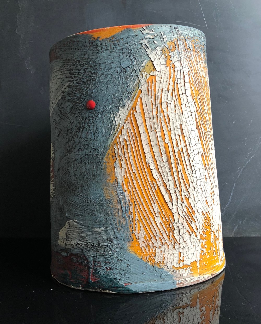Mood Blue Landscape Vessel