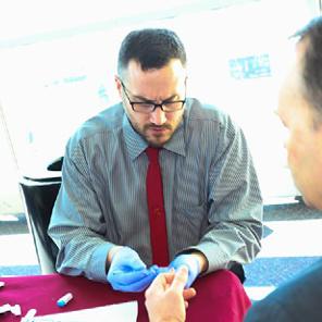 finger stick on-site biometric screening