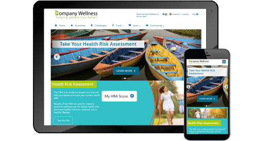 online wellness portal mobile friendly
