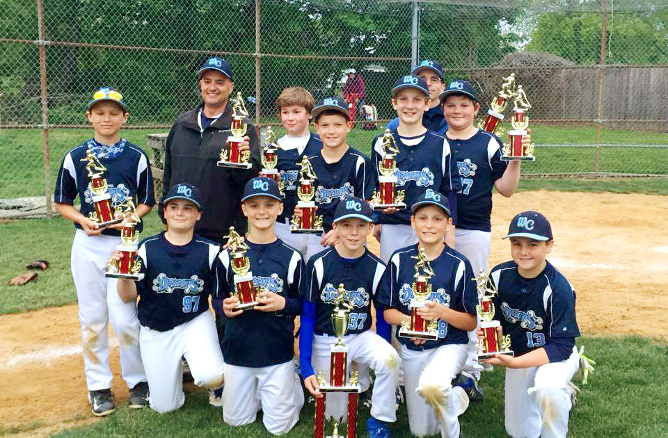 11U West Chester Dragons NL Baseball Team wins Avon Grove Spring Slam 2016 Tournament