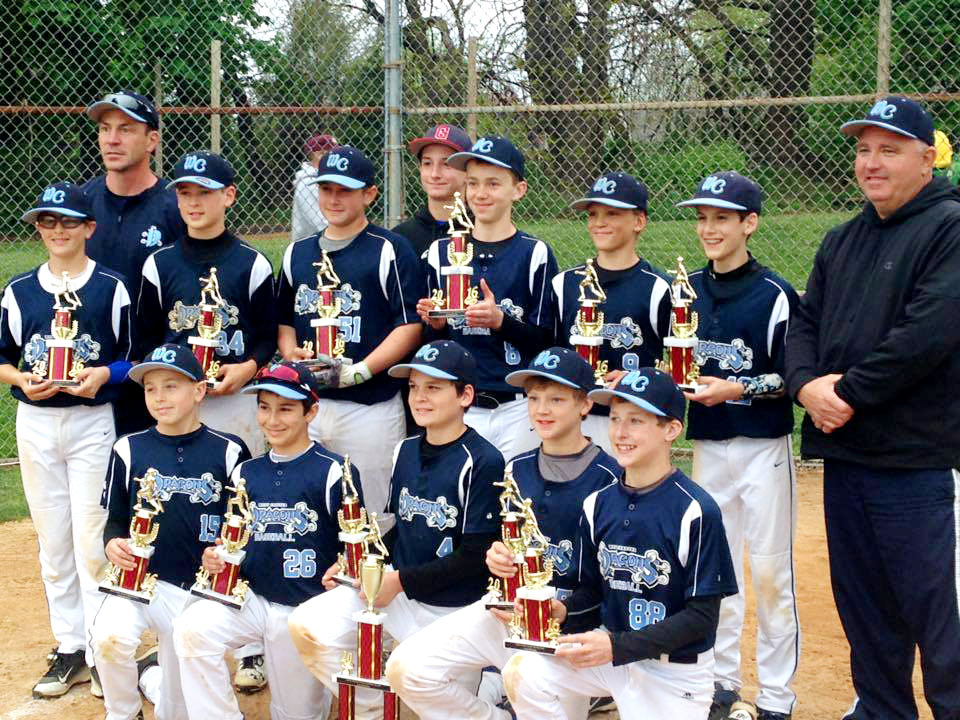 12U West Chester Dragons Baseball Team wins the Avon Grove Spring Slam 2016 Tournament
