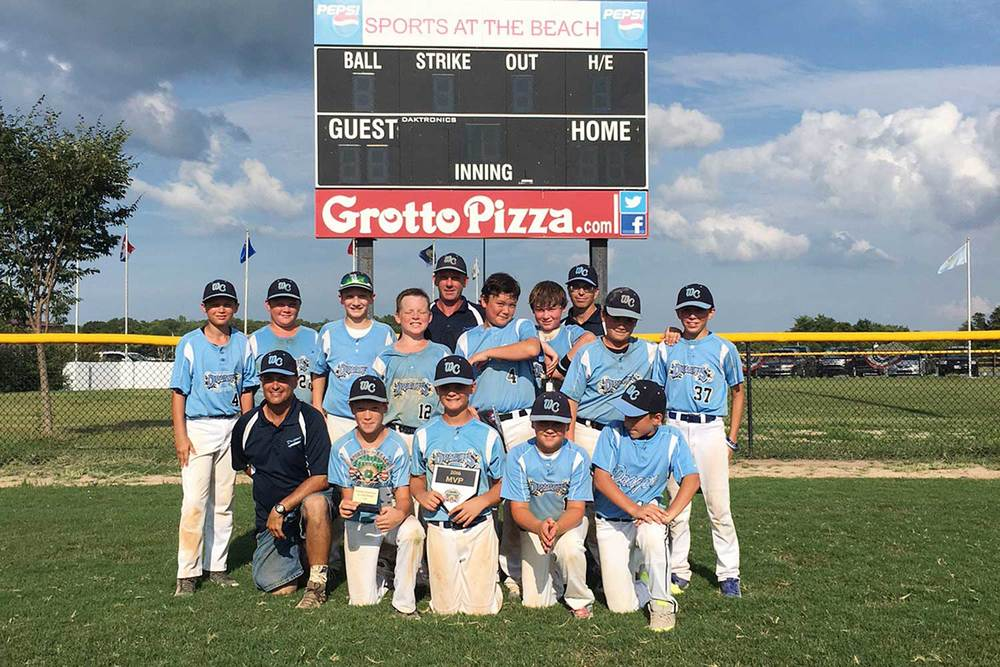 11U West Chester Dragons NL baseball team win Sports At The Beach in July 2016