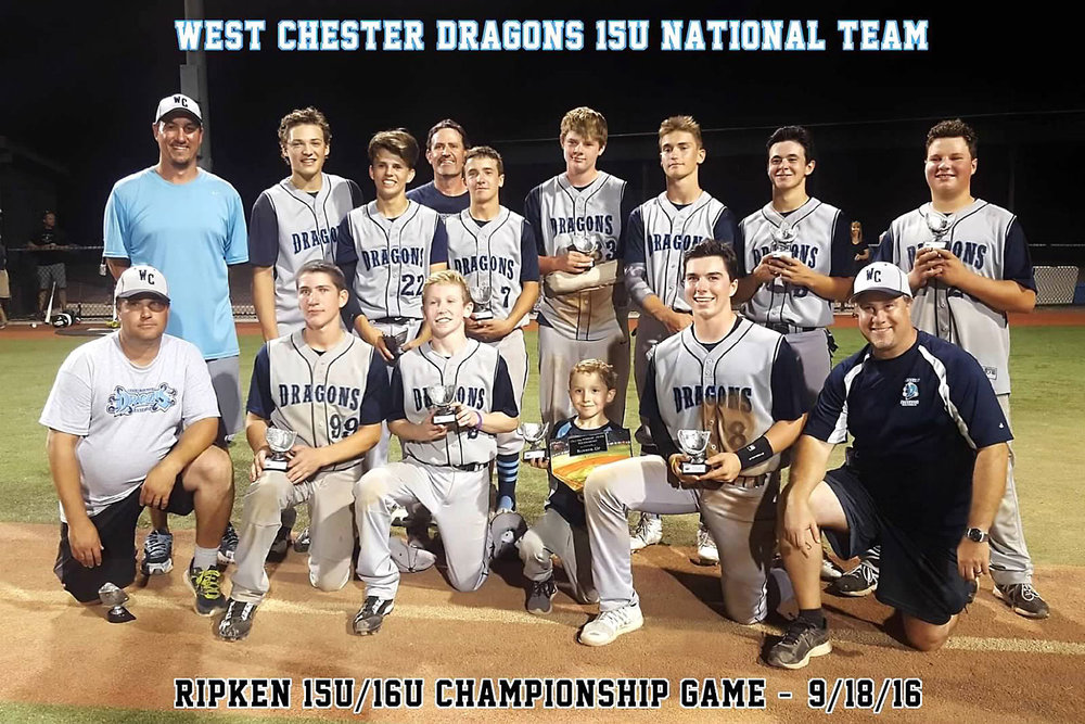 15U West Chester Dragons NL baseball team