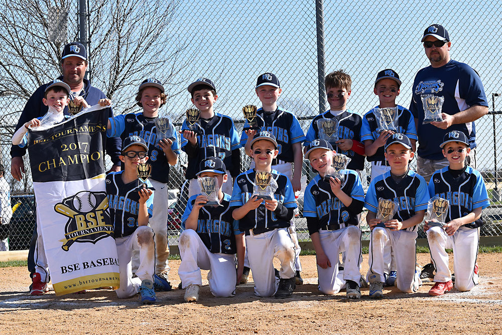 9U NL West Chester Dragons baseball team wins BSE Super Slugger Invitational 2017