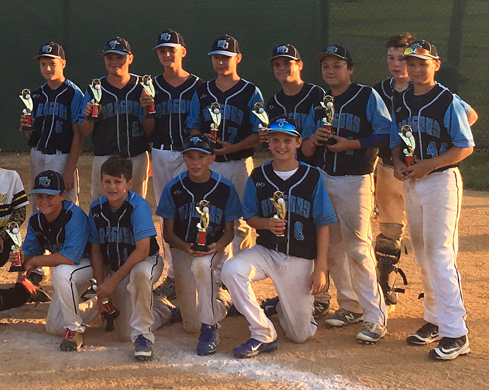 12U West Chester Dragons NL Travel Baseball Team named Runner-Up at South Jerey Warriors Summer Slam Wooden Bat Tournament