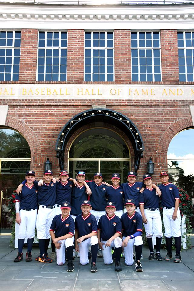 12U Dragons NL travel baseball team visit the National Baseball Hall of Fame in Cooperstown, New York