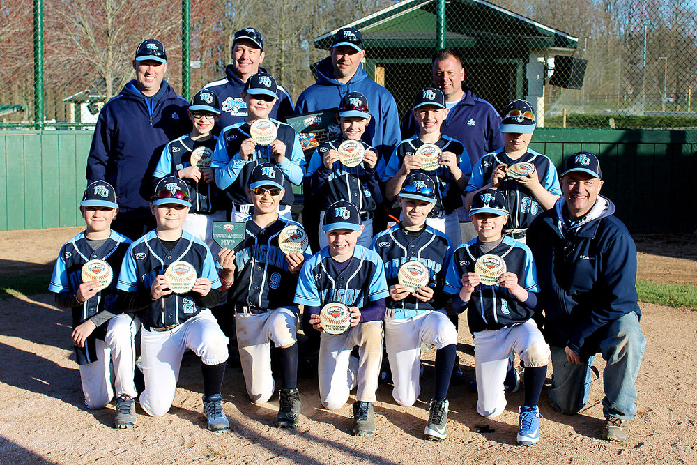 11U West Chester Dragons NL win the Easter Tournament 2018 at The Ripken Experience Aberdeen on March 31, 2018.