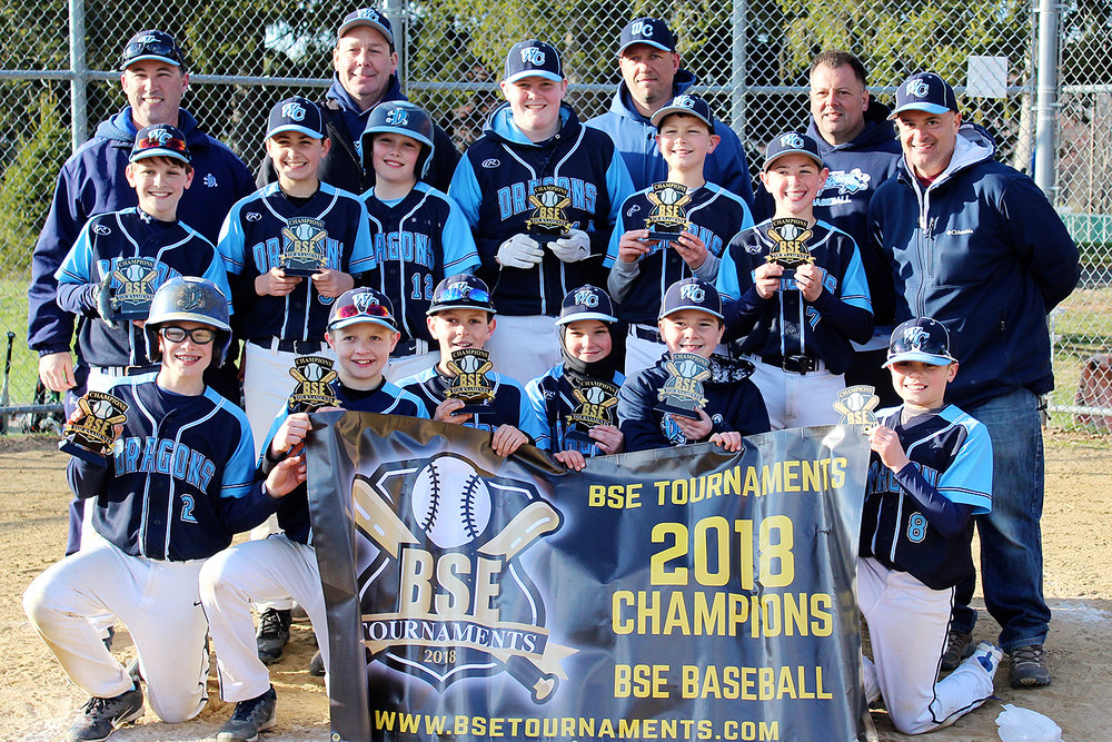 11u West Chester Dragons NL travel baseball team won the BSE 4th Annual Spring Kickoff Tournament on April 8, 2018