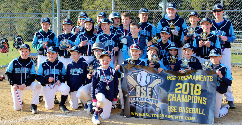 11u West Chester Dragons AL travel baseball team named Runner-Up at the BSE 4th Annual Spring Kickoff 2018 Tournament on April 8, 2018