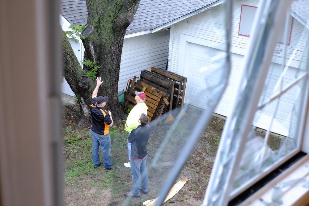Belfor Restoration Crews in Jenks after storm