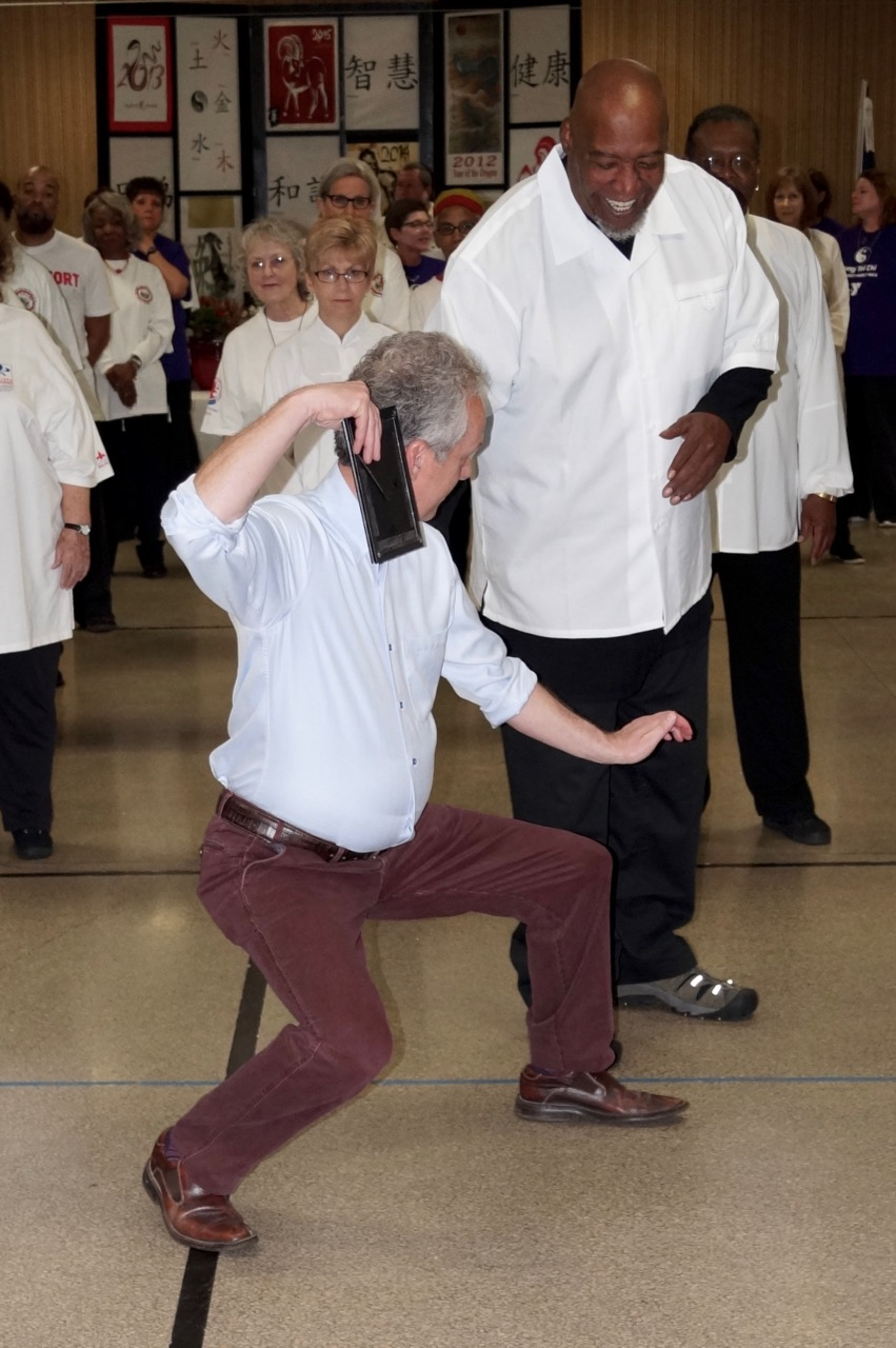 Louisville Mayor Greg Fischer doing some Tai Chi