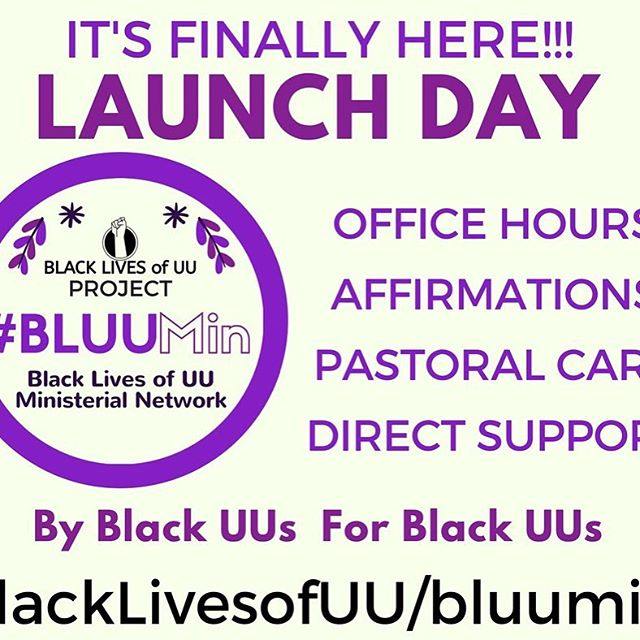 Calling all Black Unitarian Universalists! We heard you and now #BLUUMin is here! ✊🏾💜 #BLUU #church #UU #faithoverfear #buildinganewway