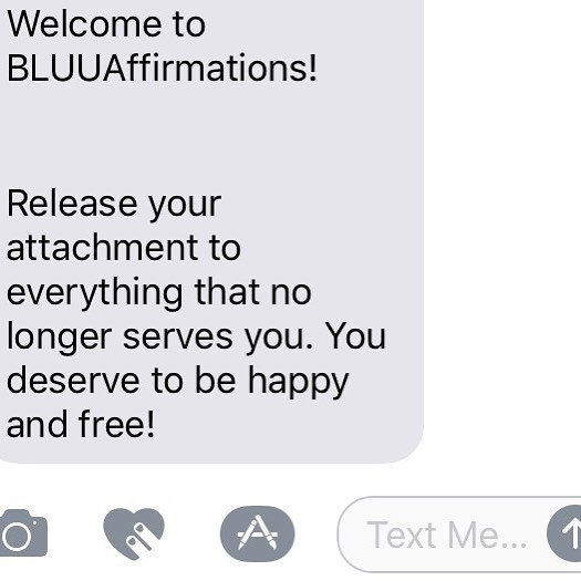 Have YOU signed up to receive daily #BLUUAffirmations from #BLUUMin? Not yet? Don't miss out! Click the link in the bio and sign up today! ✊🏾💜