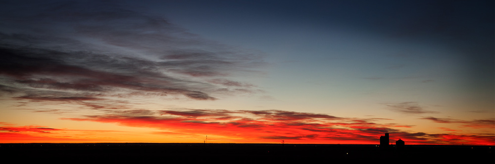 Sunrise in the Colorado plains.