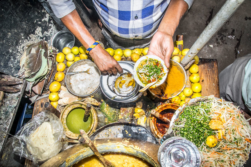 Mixing Ghugni Chaat: Delhi, India  2017  60x40cm edition of 5 $300usd  100x66cm edition of 10 $500usd