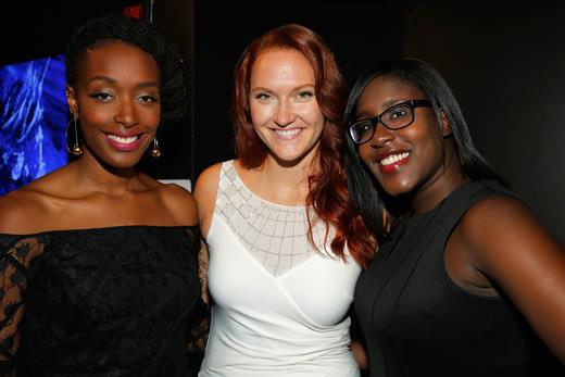 "Franchesca ""Chescaleight"" Ramsey, Julie Rosing of Buzz Off, Lucille, and Naomi Ekperigin (Photo by Astrid Stawiarz/Getty Images for Lady Parts Justice)"