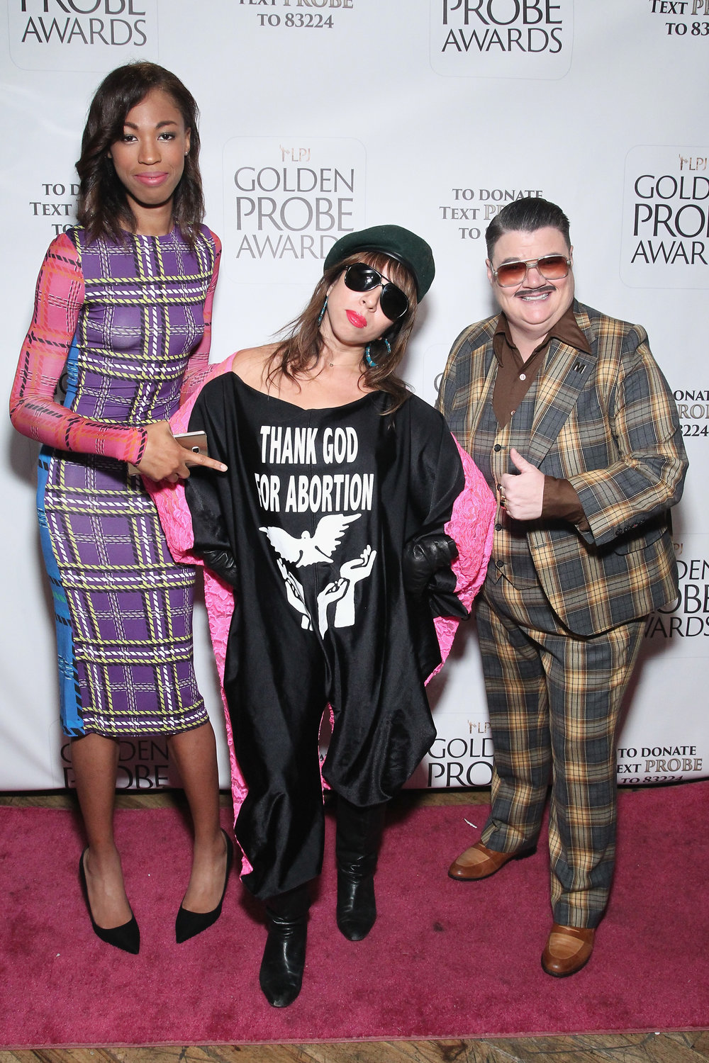 Kita Updike, Beva Ruiz, and Murray Hill (Photo by Astrid Stawiarz/Getty Images for Lady Parts Justice)