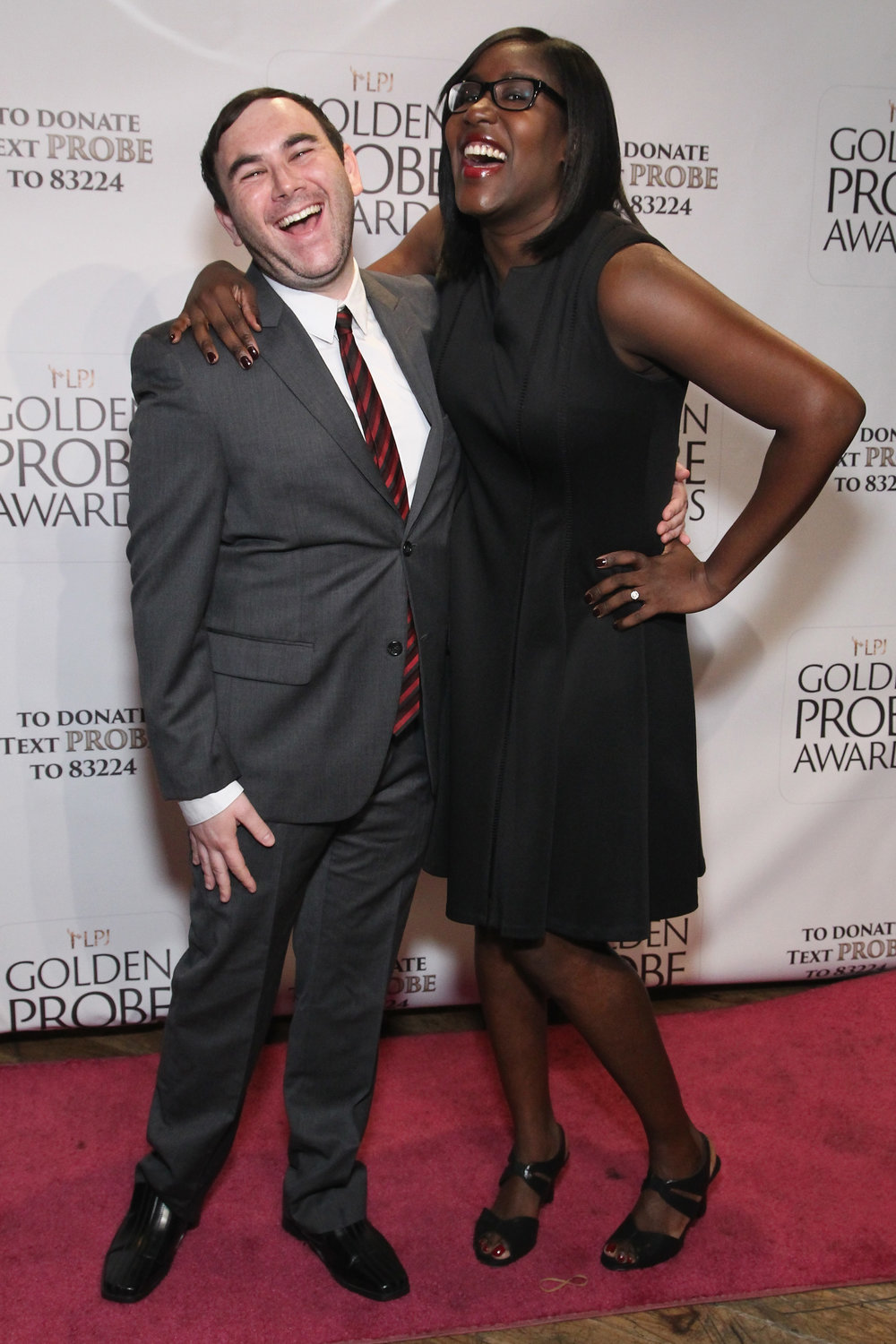 Andy Beckerman and Naomi Ekperigin (Photo by Astrid Stawiarz/Getty Images for Lady Parts Justice)