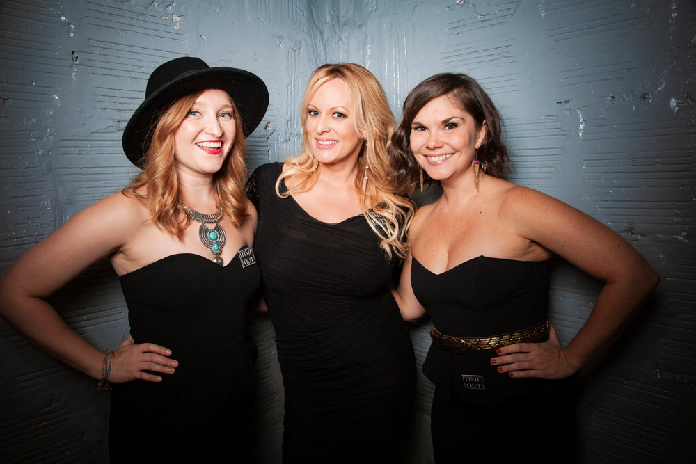 Katy Frame, Stormy Daniels, Marie Cecile Anderson