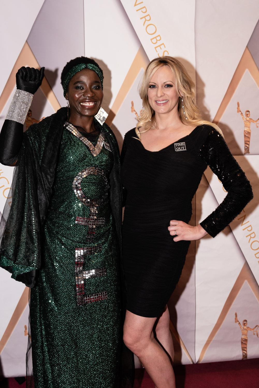Patricia Okoumou, Stormy Daniels