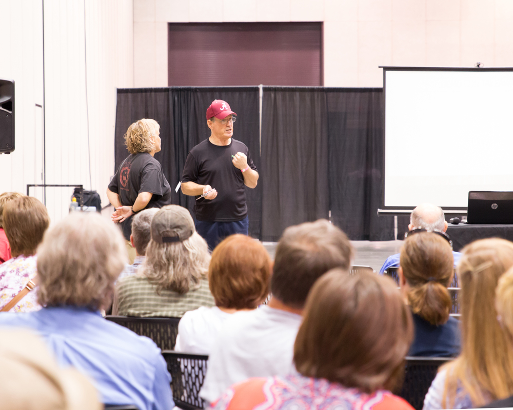 Marty and Kelley teaching at the Survival Expo!