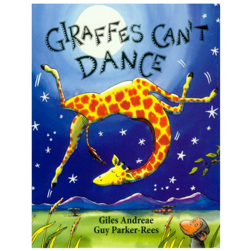 GIRAFFES CAN'T DANCE   Many kids know this book, which makes it a story hour favorite.  the poetic verse is soothing and easy to read!