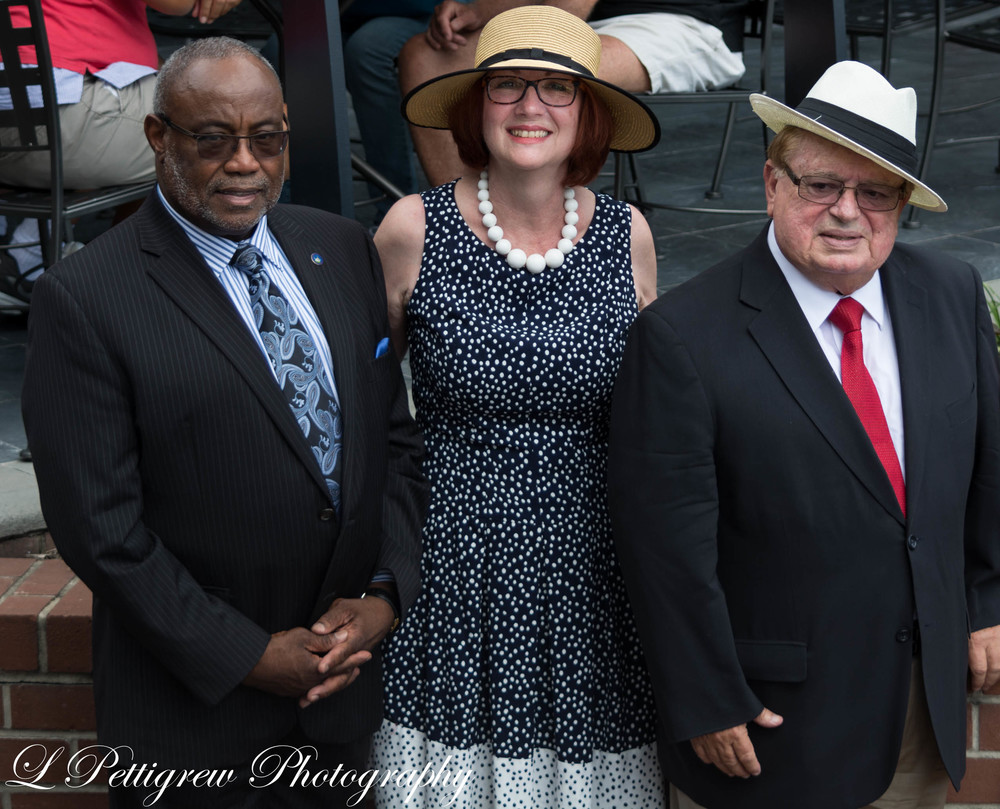 Former Alexandria mayor, Bill Euille, with Mr. and Mrs. Artemel