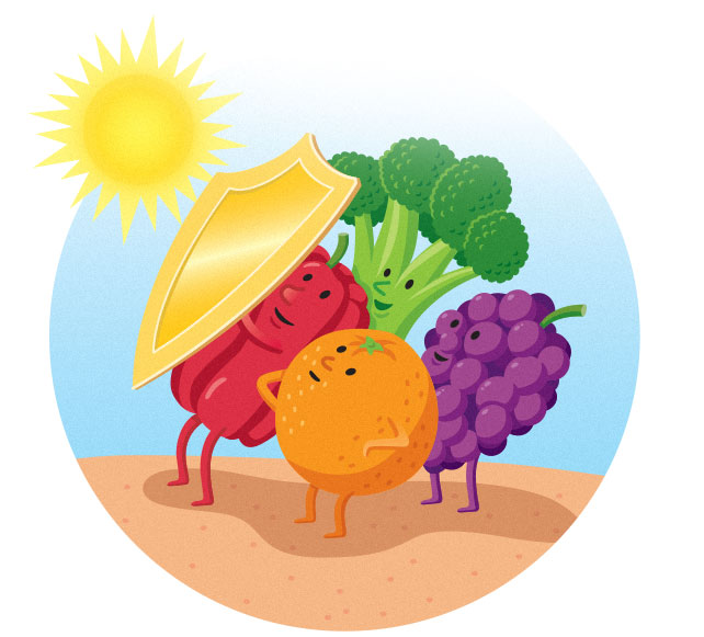 Vegetables Sun Block   AARP THE MAGAZINE