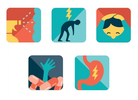 Health ailments icons AARP THE MAGAZINE