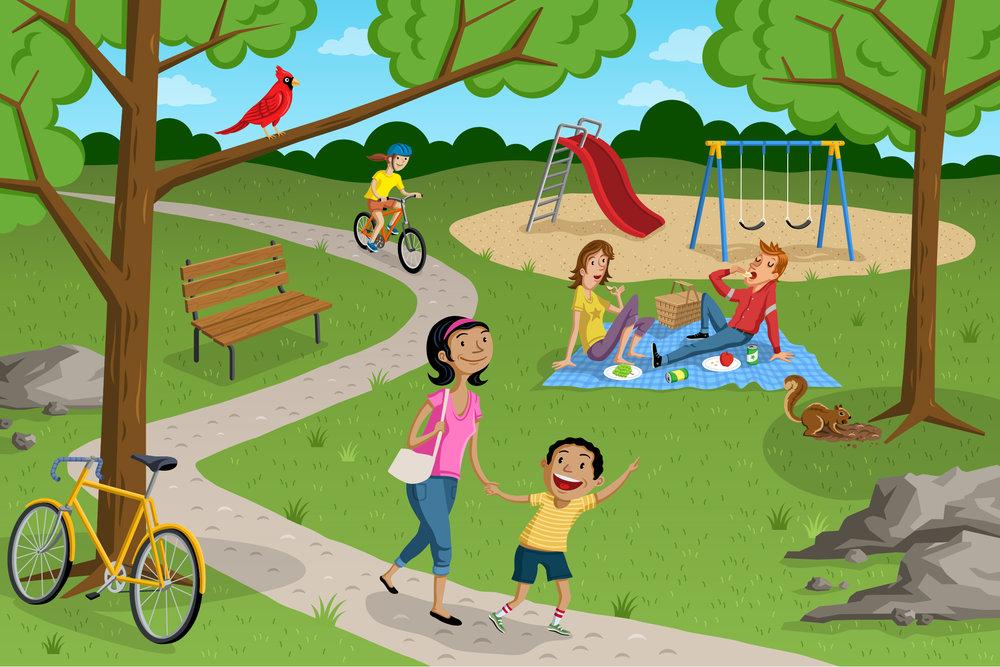 Park Scene HOUGHTON MIFFLIN