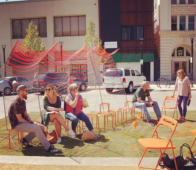 Happy PARK(ing) Day! #tb to the installation we did on Courthouse Square last year with @tlcd_architecture, AXIA and MKM