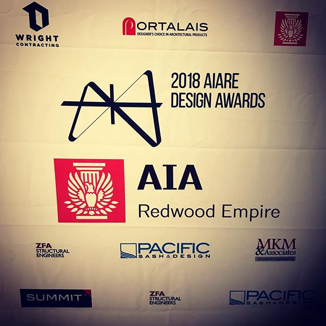 Great night of celebration at the AIA Redwood Empire Design Awards. Congrats to our colleagues - lots of impressive work being built!