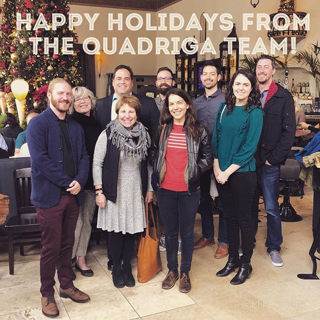 A fun holiday party with the whole Quadriga team!