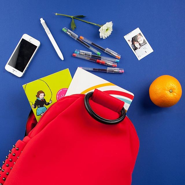 To all the students, which item must you have to get through a long day of classes? 🕓 🕓 🕓 Alex Backpack in Red. #school #backpack #alex #designer #instax #lorrainesui #fashion #backtoschool