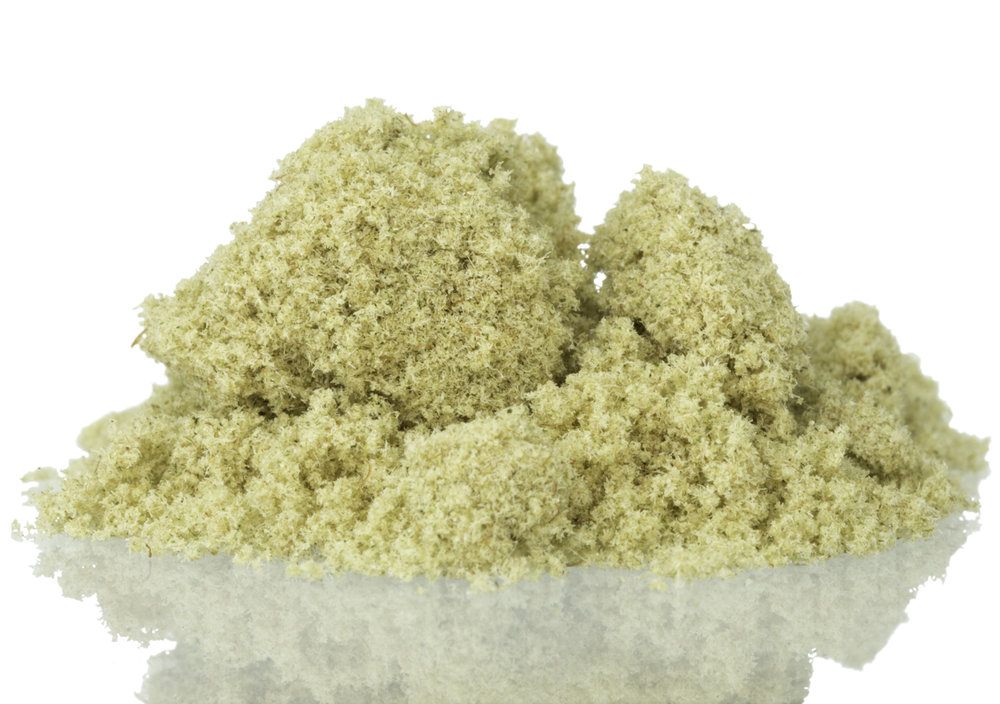 "Created by KindExtracts, this kief is from a cannabis strain called ""Diamond AK."""