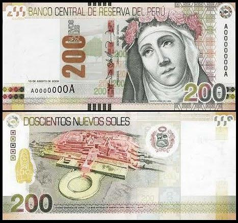 In 2011,Central Reserve Bank of Perú printed the new 200 Soles banknote with the image of Caral (original image by Chris Kleihege).