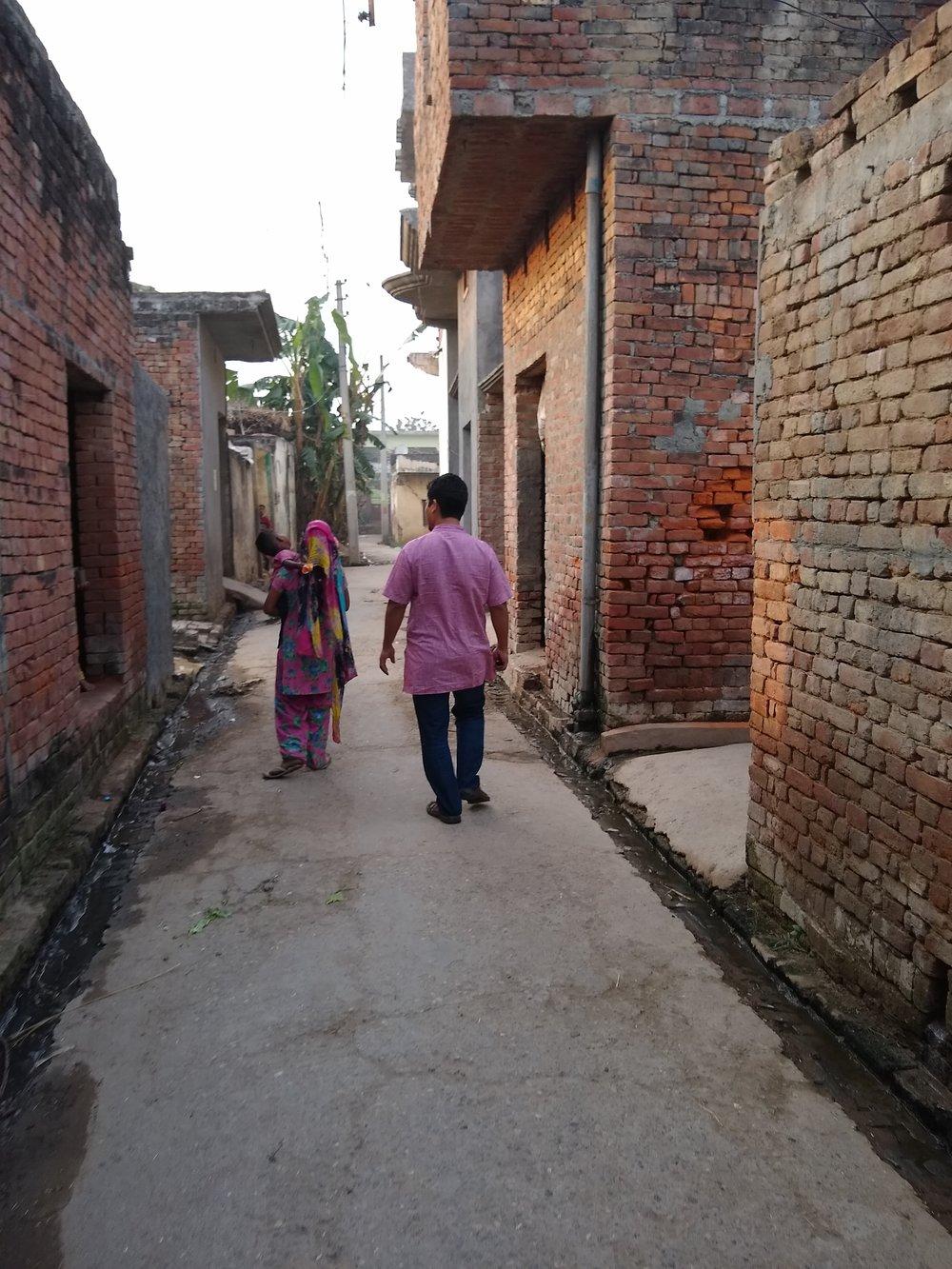 Walking with Pastor Onjang