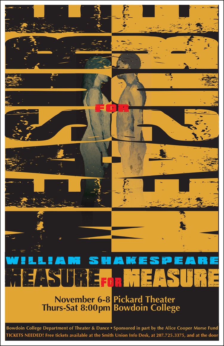 Poster design needed - Measure For Measure Poster