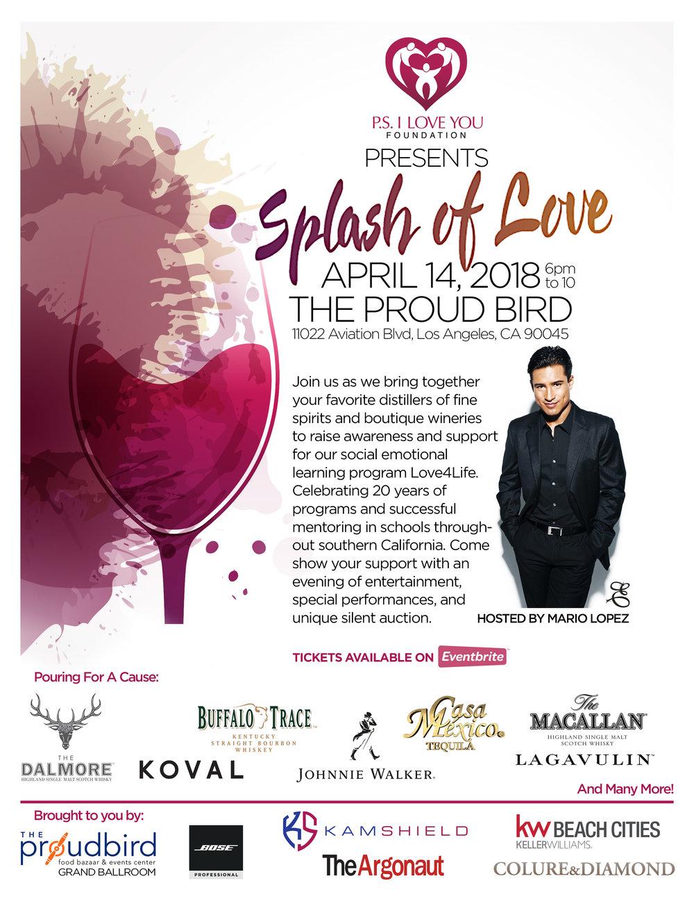 Get Tickets Here - Splash of Love 2018