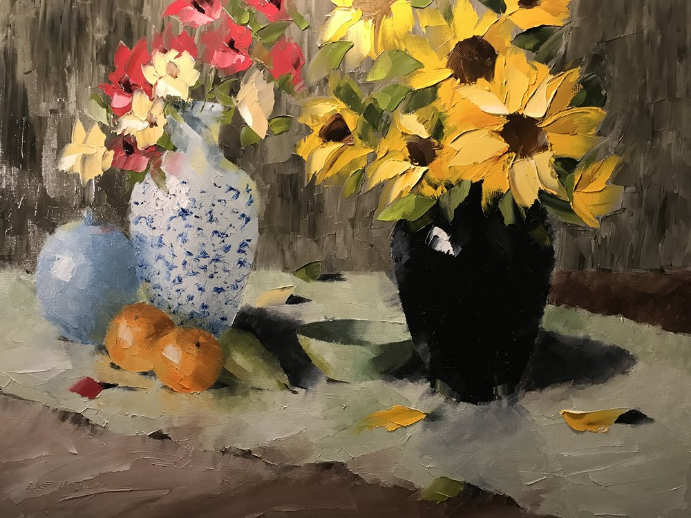 """Sunflower Still Life"""