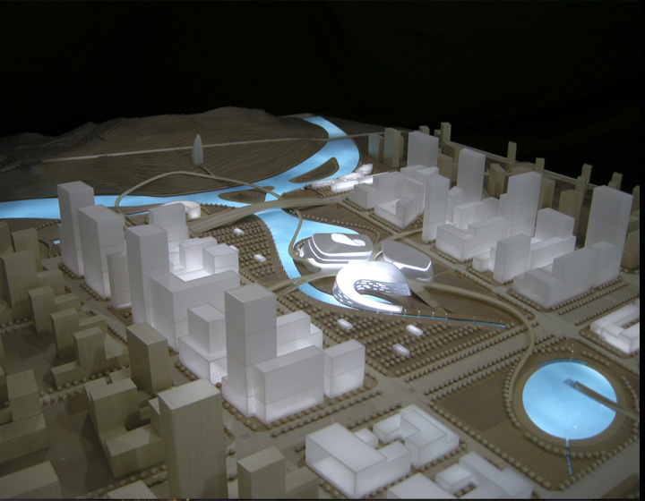 Yichang New District Cultural Center Model