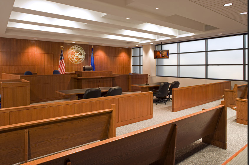 Mills B. Lane Justice Center Courtroom