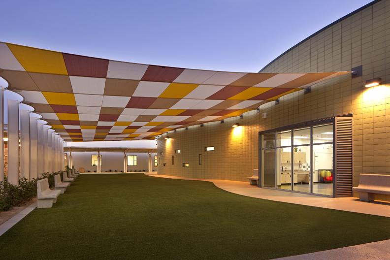 John F. Miller School Exterior Canopy