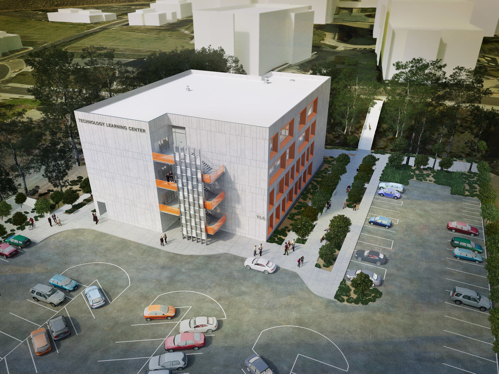 West Los Angeles College TLC Aerial Rendering